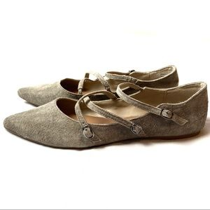 Steve Madden Pointed Leather Suede Flats Edggy 10
